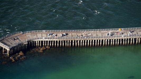 Sebastian Inlet State Park's north jetty allows anglers to fish from its deck jutting nearly 1,000 feet into the ocean.