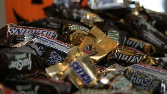 A Hamilton County teen is being treated for possible injuries after she found metal in a piece of Halloween candy, police said.