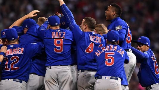 Ten intense innings after it started, the Chicago Cubs win the World Series in Game 7.