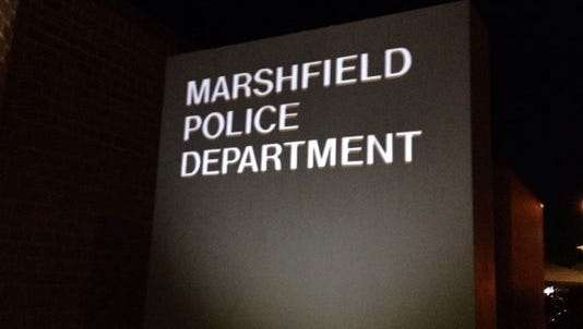 Marshfield Police Department sign