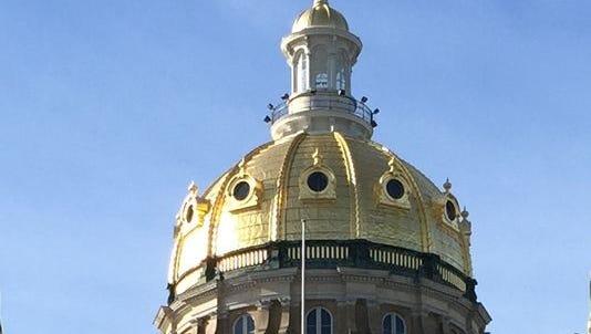 The Iowa State Capitol dome.