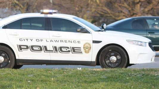 A Lawrence police car, shown in 2013.