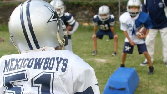Love of football extends to the youth level, where the MexiCowboys play in a league with hundreds of players.