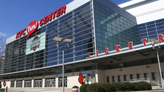 Outside the KFC Yum Center, March 21, 2016