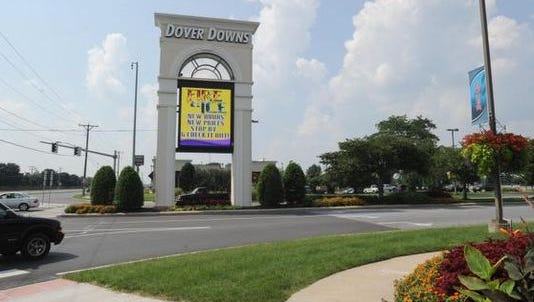 The Dover Downs parking lot was the site of a meeting between alleged drug traffickers in April, federal authorities said.