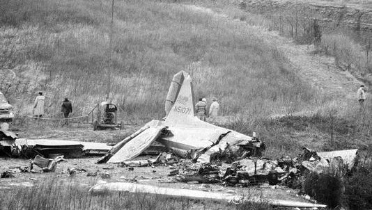 In 1977, a charter plane carrying the University of Evansville basketball team to Nashville crashed in rain and fog.
