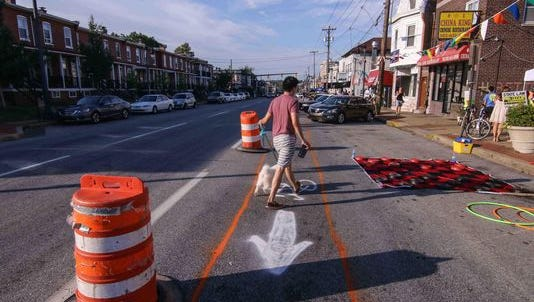 Officials tested the feasibility of a bike lane on a short stretch of Union Street in 2015.
