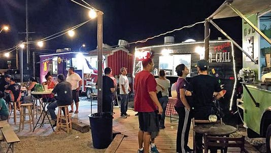The Boardwalk at Ricky's is a popular food truck park on the city's East Side.