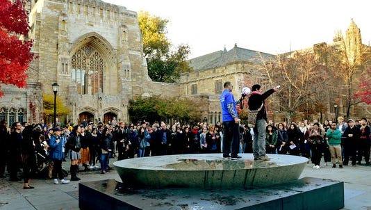 At Yale, Nov. 16, 2016.