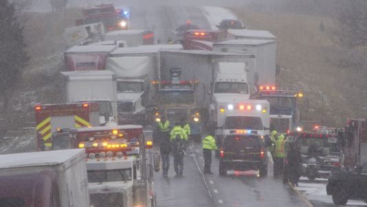 Three people died Dec. 8 in a 53-car pileup on westbound Interstate 96 near Fowlerville and Wallace Road, which is the Livingston-Ingham county line.