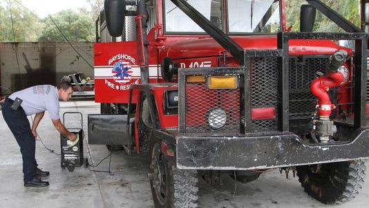Voters in Bayshore and 16 other fire districts could get to vote on whether to join a countywide fire district.