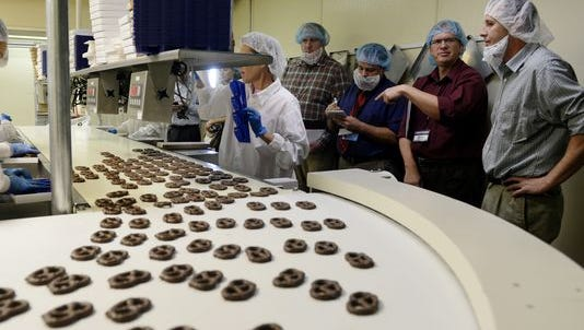 Trade journalists visits Wolfgang Candy in North York in 2014.