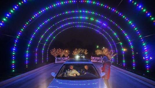 Free light display at the Suzanne Gresham Center.