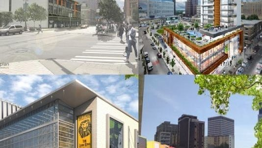 Competing proposals for Parcel 56 downtown.