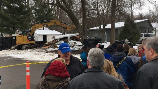 The house belonging to Jacob Wetterling's killer was destroyed Friday.