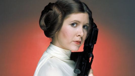"""Carrie Fisher in """"Star Wars."""""""