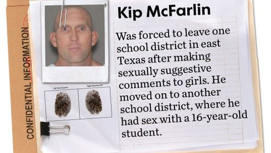 Part of USA TODAY Network investigation on sexual misconduct in schools.