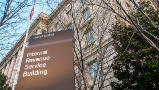 In this April 13, 2014 file photo, the Internal Revenue Service Headquarters (IRS) building is seen in Washington.