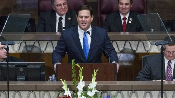 Arizona Gov. Ducey, delivering his 2017 State of the State speech.