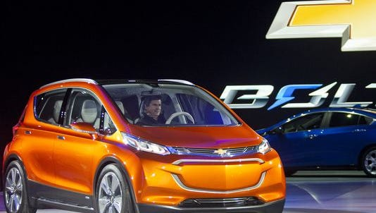 The Chevrolet Bolt was named the North American Car of the Year Monday.
