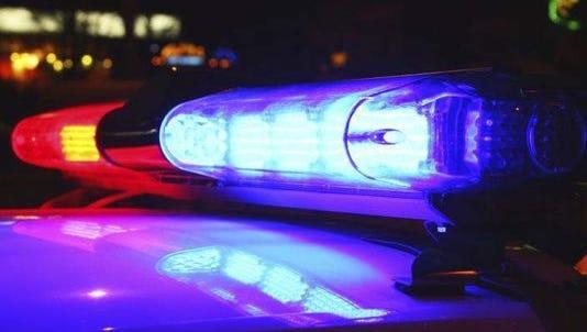 Lights on a police car.