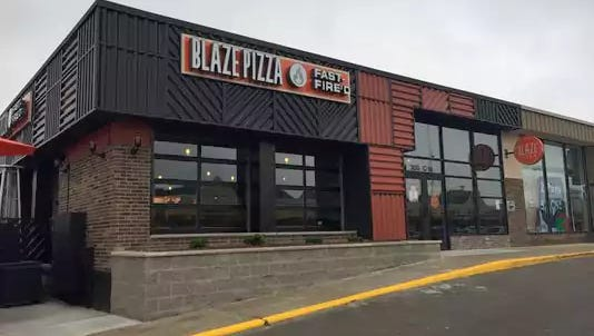 Blaze Pizza opened in Frandor Shopping Center in June. It is opening a location in East Lansing this spring