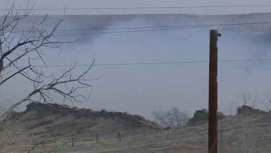 Dozens are being evacuated after a grass fire broke out in Boulder County.