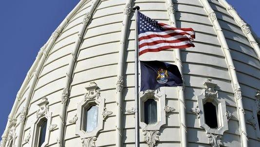 Michigan capitol dome.