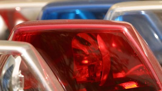 An Anderson County Sheriff's deputy and a motorcyclist were taken to AnMed Health Medical Center with minor injuries after a foot chase Saturday afternoon.
