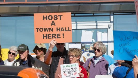 Congressman Steve Pearce decided this week to hold a town hall in Ruidoso Saturday. His Las Cruces office was the scene last month of protests when he held a teleconference instead.