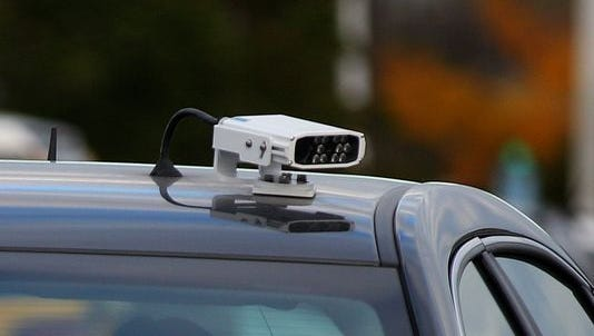 A license plate reader in Monroe County, New York.