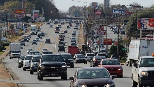 A road plan proposed by Pickens County legislators is intended to ease congestion along U.S. 123 on the east side of the county.
