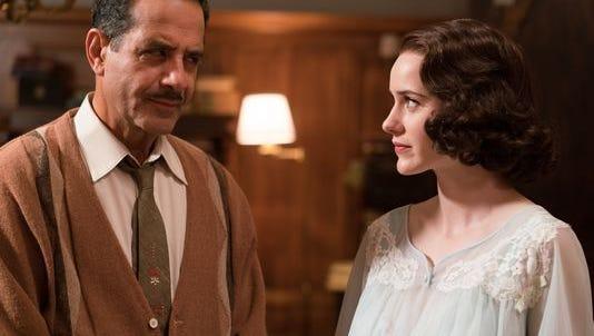 Tony Shalhoub plays Abe, father to Rachel Brosnahan's Midge in 'The Marvelous Mrs. Maisel.'