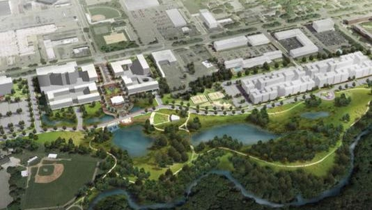 A previous rendering of the proposed Red Cedar Renaissance project.