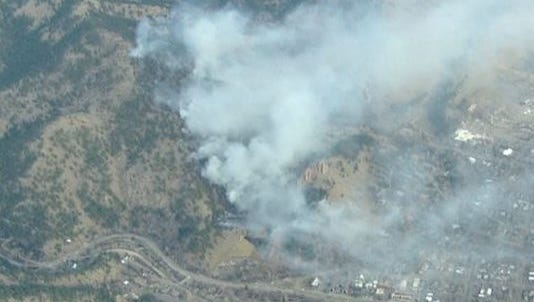 At least 1,031 homes are evacuated due to a wildfire burning in Boulder  on Sunday morning.