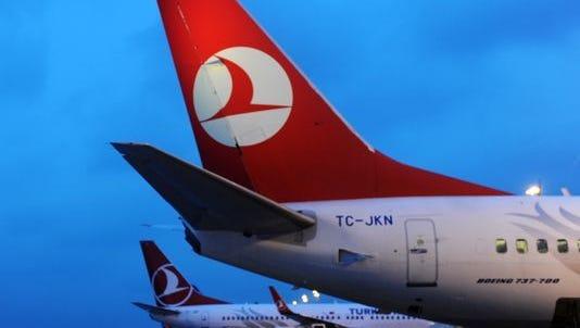 Turkish Airlines planes.