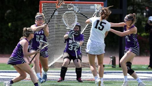 Girls lacrosse NJSIAA Tournament of Champions semifinal game between Rumson-Fair Haven and Summit held at Monmouth University in West Long Branch on Wednesday June 8, 2016. (Photo: Mark R. Sullivan/Staff Photo)