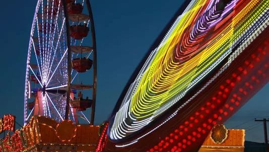 Rides at the New York State Fair.