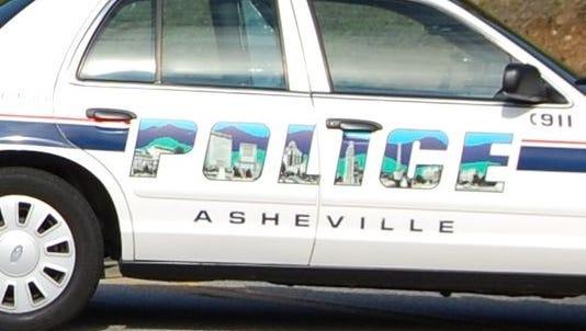 Asheville police patrol vehicle