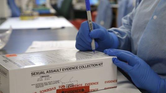 Rape kit in laboratory.