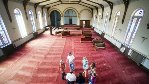 People gathered in the former sanctuary of York's Zion Lutheran Church in 2014, as they pondered possible uses for the building.