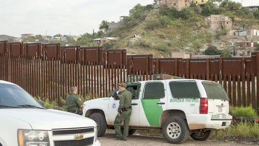 U.S. Border Patrol agents in Nogales, Ariz.
