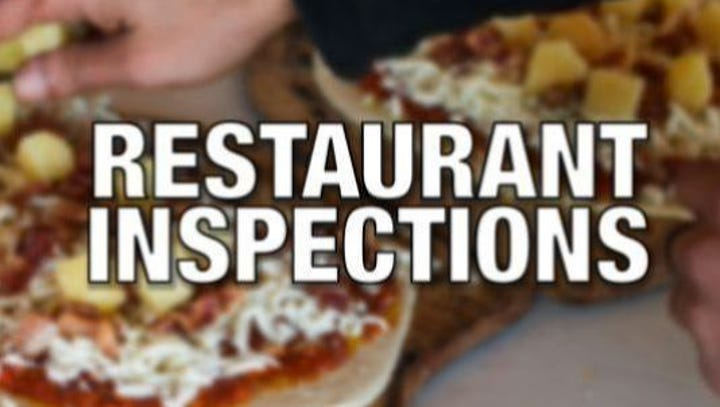 Restaurant Inspections for week ending May 21