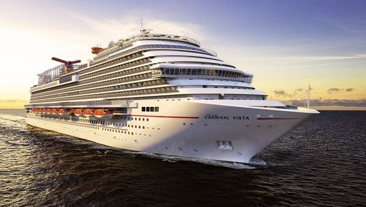 In a rare move, cruise giant Carnival will base its soon-to-debut Carnival Panorama in Long Beach, Calif. The ship will be a sister to the recently unveiled Carnival Vista, shown here.