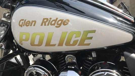 A Glen Ridge police motorcycle.