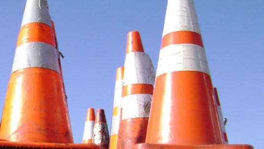 Lanes on Del. 1 and I-495 will close during the upcoming week.