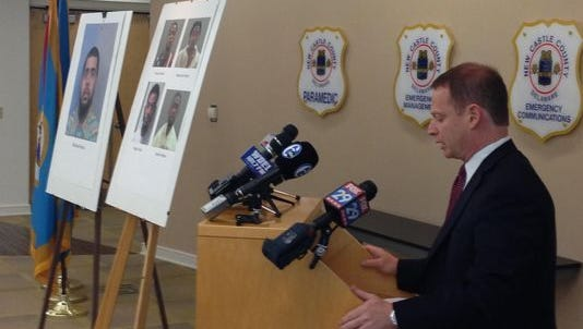 Attorney General Matt Denn speaks at an August 2015 press conference announcing the arrest of Michael Rivera. On Thursday, the state dropped murder charges against Rivera.