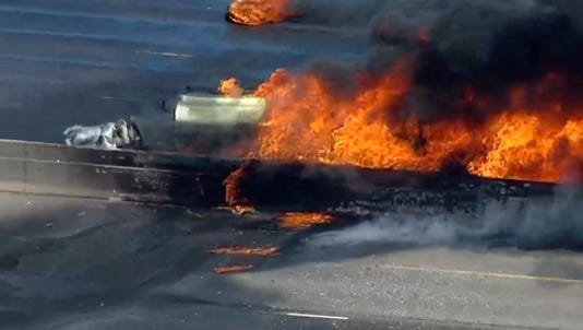 A look at the vehicle fire near the Denver Tech Center