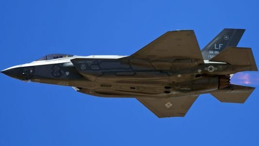 The Air Force temporarily stopped flying F-35 fighter jets at Luke Air Force Base in Glendale on June 9, 2017, in response to a series of incidents in which pilots reported symptoms of oxygen deprivation.