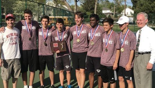 Wayne Hills, here after winning Passaic tournament, had all seven starters earn first-team all-county honors.